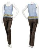 Weibliche Strickjacke auf Mannequin Stockfoto
