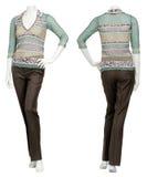 Weibliche Strickjacke auf Mannequin Stockbild