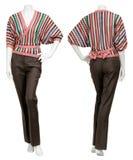 Weibliche Strickjacke auf Mannequin Stockbilder
