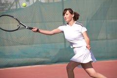 Weibliche Tennis-Spieler Lizenzfreies Stockfoto