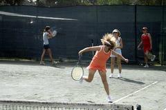 Weibliche Tennisklinik lizenzfreies stockfoto