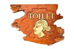 Weibliche Toilettenzeichen. Lizenzfreies Stockbild