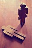 Weibliche und männliche Symbole kreativ Stockbild