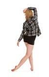 Weibliche zeitgenössische Tanz-Linien Stockfoto