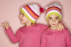 Weibliche Zwillinge stockfotografie