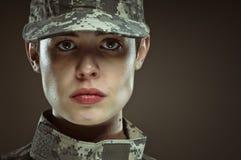 Weiblicher AMERIKANISCHE Armee-Soldat Lizenzfreies Stockbild