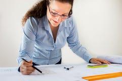 Weiblicher Architekt Lizenzfreie Stockfotos