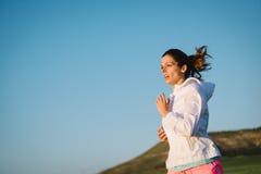 Weiblicher Athletenbetrieb Lizenzfreies Stockfoto