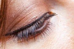 Weiblicher Augenabschluß oben Lizenzfreie Stockfotos