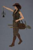 Weiblicher Bagger Lizenzfreie Stockbilder