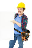 Weiblicher Bauarbeiter - Zeichen Lizenzfreie Stockfotografie