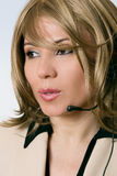 Weiblicher Beratungsstelle-Bediener stockfotos