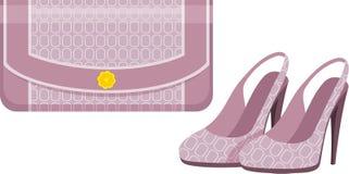 Weiblicher Beutel und Schuhe Lizenzfreies Stockbild