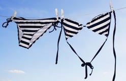 Weiblicher Bikinitrockner Lizenzfreie Stockfotografie