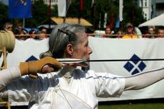 Weiblicher Bogenschütze Stockbild