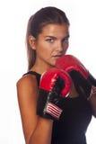 Weiblicher Boxer Stockbild