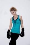 Weiblicher Boxer stockfotos
