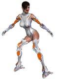 Weiblicher Cyborg Lizenzfreie Stockfotos