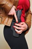 Weiblicher Detektiv Stockfotografie