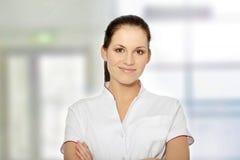 Weiblicher Doktor oder Krankenschwester lizenzfreies stockbild
