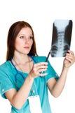 Weiblicher Doktor oder Krankenschwester Lizenzfreie Stockbilder
