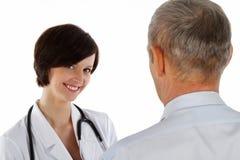 Weiblicher Doktor und Mann Lizenzfreies Stockfoto
