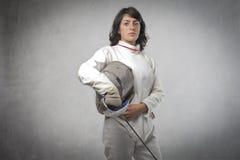 Weiblicher Fechter Lizenzfreie Stockfotografie