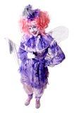 Weiblicher feenhafter Clown Lizenzfreie Stockfotografie