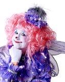 Weiblicher feenhafter Clown Stockfotos