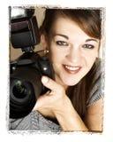 Weiblicher Fotograf stockbilder