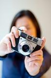 Weiblicher Fotograf Lizenzfreies Stockbild