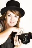 Weiblicher Fotograf Lizenzfreies Stockfoto