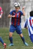 Weiblicher Fußball-Spieler Stockbild