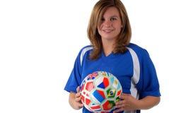 Weiblicher Fußball-Spieler Stockfotografie