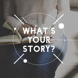 Weiblicher Geschichten-Verfasser Sketch Graphic Concept Stockfotografie
