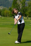 Weiblicher Golfspieler Stockbild