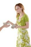 Weiblicher Käufer lizenzfreies stockbild