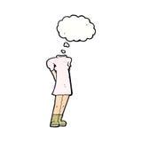weiblicher Körper der Karikatur (addieren Sie Fotos oder mischen Sie und bringen Sie Karikaturen) zusammen, mit Lizenzfreies Stockbild