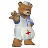 Weiblicher Krankenschwester-Bär Stockbilder