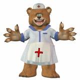 Weiblicher Krankenschwester-Bär Stockfoto