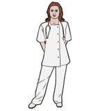 Weiblicher Krankenschwesterdoktor der Illustration Stockfotografie