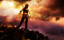 Weiblicher Krieger stock abbildung