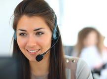 Weiblicher Kundenbetreuungsbediener Stockfotografie