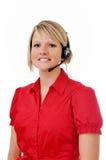 Weiblicher Kundendienst-Repräsentant Lizenzfreies Stockfoto