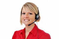 Weiblicher Kundendienst-Repräsentant Lizenzfreie Stockbilder
