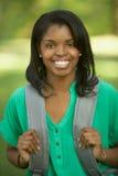 Weiblicher Kursteilnehmer des Afroamerikaners Stockbilder