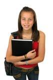 Weiblicher Kursteilnehmer-Lächeln Stockfoto