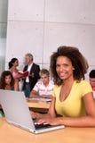 Weiblicher Kursteilnehmer-Portrait Stockfoto