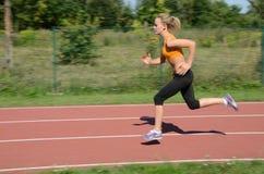 Weiblicher Läufer lizenzfreies stockbild