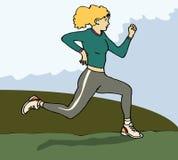 Weiblicher Läufer Stockfotografie